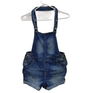 Denizen from Levi's Bib Distressed Jean Shortalls